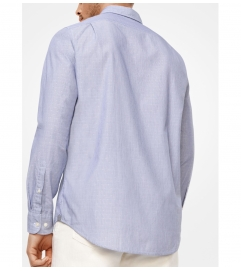 Michael Kors Mens Tailored/Classic-Fit Cotton Shirt
