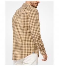 Michael Kors Tailored/Classic-Fit Check Cotton Shirt
