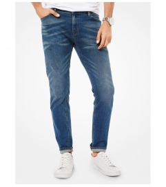 Michael Kors Mens Parker Slim-Fit Selvedge Jeans