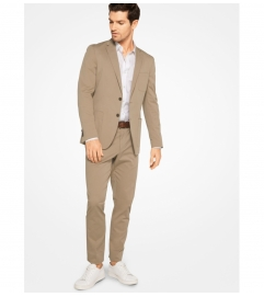 Michael Kors Mens Slim-Fit Stretch-Cotton Blazer