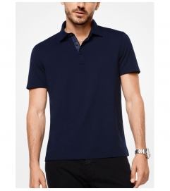 Michael Kors Mens Bryant Stretch-Cotton Polo Shirt
