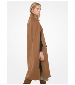 MICHAEL Michael Kors Double Face Wool Blend Cape