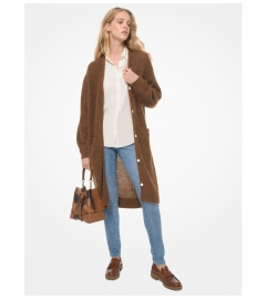 MICHAEL Michael Kors Wool and Mohair Blend V-Neck Cardigan