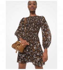 MICHAEL Michael Kors Floral Georgette Smocked Dress