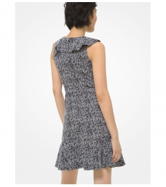 MICHAEL Michael Kors Tweed Jacquard Ruffled Dress