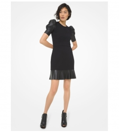 MICHAEL Michael Kors Ponte Puff-Sleeve Dress