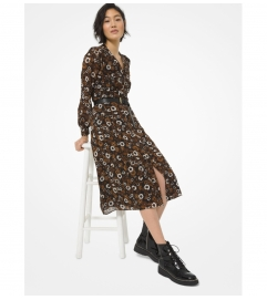 MICHAEL Michael Kors Floral Georgette Shirtdress