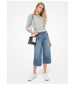 MICHAEL Michael Kors High-Waisted Denim Culottes
