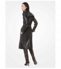 MICHAEL Michael Kors Leather Trench Coat