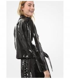 MICHAEL Michael Kors Patent Leather Moto Jacket
