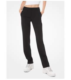 MICHAEL Michael Kors Stretch-Wool Straight-Leg Trousers