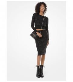 MICHAEL Michael Kors Studded Knit Pencil Skirt