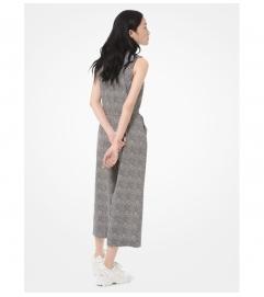 MICHAEL Michael Kors Foliage-Print Crepe Belted Jumpsuit