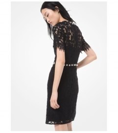 MICHAEL Michael Kors Embellished Corded Lace Dress