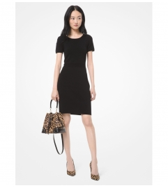 MICHAEL Michael Kors Textured Stretch-Viscose Dress