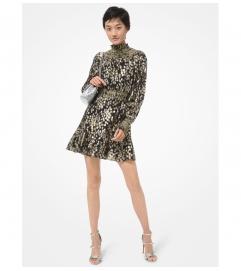 MICHAEL Michael Kors Star Metallic Fil Coupé Silk Blend Mini Dress
