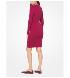 MICHAEL Michael Kors Lace-Up Ribbed Dress