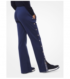 MICHAEL Michael Kors Logo Tape Buttoned Track Pants