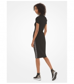 MICHAEL Michael Kors Logo Tape Ribbed Knit Dress