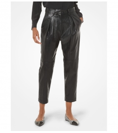 MICHAEL Michael Kors Faux Leather Pleated Pants