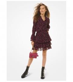 MICHAEL Michael Kors Floral Georgette Ruffled Skirt