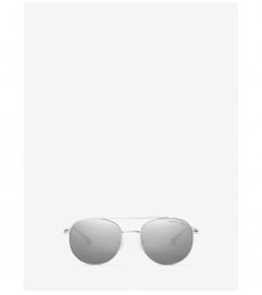 Michael Kors Lon Rounded Aviator Sunglasses