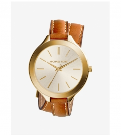 Michael Kors Slim Runway Double-Wrap Watch