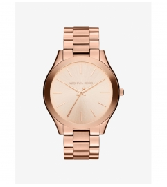 Michael Kors Slim Runway Rose Gold-Tone Watch