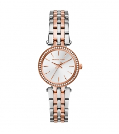 Michael Kors Petite Darci Silver And Rose Gold-Tone Watch