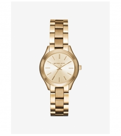 Michael Kors Mini Slim Runway Gold-Tone Watch