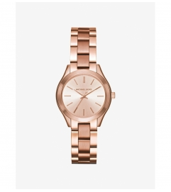 Michael Kors Mini Slim Runway Rose Gold-Tone Watch