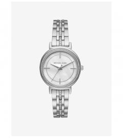 Michael Kors Cinthia Pavé Silver-Tone Watch