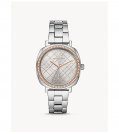 Michael Kors Nia Pavé Two-Tone Watch