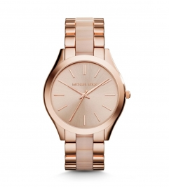 Michael Kors Slim Runway Rose Gold-Tone Acrylic Watch