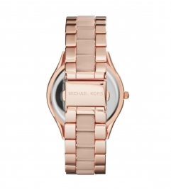 Michael Kors Slim Runway Rose Gold-Tone Acrylic Watch