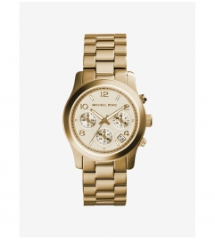 Michael Kors Runway Gold-Tone Chronograph Watch