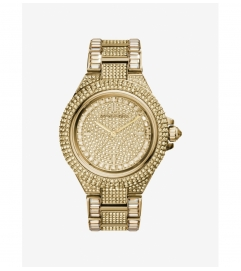 Michael Kors Camille Pavé Gold-Tone Watch