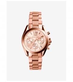 Michael Kors Bradshaw Rose Gold-Tone Stainless Steel Watch