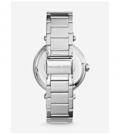 Michael Kors Parker Pavé Silver-Tone Watch