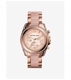 Michael Kors Blair Pavé Rose Gold-Tone Watch