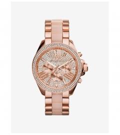 Michael Kors Wren Pavé Acetate And Rose Gold-Tone Watch