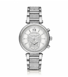 Michael Kors Sawyer Pavé Silver-Tone Watch