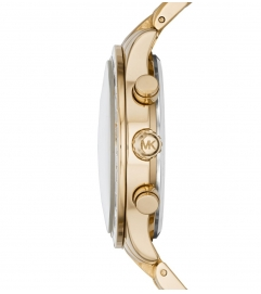 Michael Kors  Brinkley Baguette Gold-Tone Watch