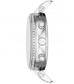 Michael Kors Sawyer Pavé Silver-Tone Watch