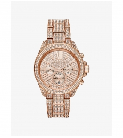 Michael Kors Wren Pavé Rose Gold-Tone Watch