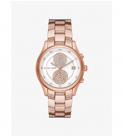 Michael Kors Briar Pavé Rose Gold-Tone Watch