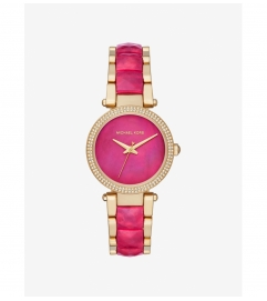 Michael Kors Parker Pavé Gold-Tone And Acetate Watch
