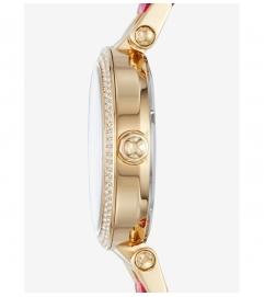 Michael Kors Parker Pavé Gold-Tone And Acetate Watch