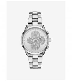 Michael Kors Slater Pavé Silver-Tone Watch