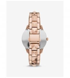 Michael Kors Runway Mercer Rose Gold-Tone and Pearl Watch